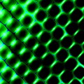 3d Square Shapes Under Green Light. Beautiful Science Background. Abstract Pattern Illustration. Modern Texture Design Element.