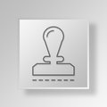 3D Stamp icon Business Concept