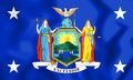 3D Standard of the Governor of New York State, USA.