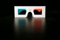 D stereo glasses on a black background Stock Photography