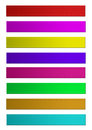 D strip in wrap around effect png file attached which is easy to use different colors isolated on white background Royalty Free Stock Images