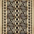 3d striped braided greek vector seamless borders pattern.