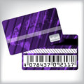 3d striped loyalty card design Royalty Free Stock Photo