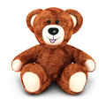 D teddy bear white background image Royalty Free Stock Image