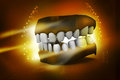 D teeth in abstract background Royalty Free Stock Image