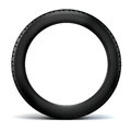 D tire on black background Royalty Free Stock Images