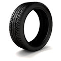 D tire on black background Royalty Free Stock Image