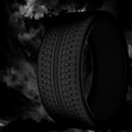 D tire on a dark sky background Stock Photos