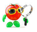 D tomato magnifys render of a with a magnifying glass Royalty Free Stock Photos