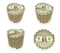 3D Top Icon accumulated dollars. 3D Icon Design Series. Royalty Free Stock Photo