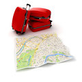 D travel and navigation planning concept Royalty Free Stock Images