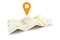 D travel and navigation planning concept Stock Images
