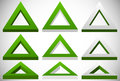 3d triangle shape in more colors set at different angles Royalty Free Stock Photo