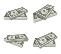 3D U.S. dollars bundle icon. 3D Icon Design Series. Royalty Free Stock Photo