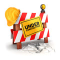 D under construction white background image Stock Photo