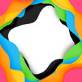 3d vector abstract background with cut shapes