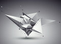 3D Vector Abstract Tech Illust...