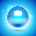 3d vector blue sphere Royalty Free Stock Photo