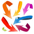 3D Vector Colorful Arrows Set Royalty Free Stock Photo