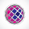 3d Vector Low Poly Spherical O...