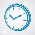 3d vector round stylized wall clock. Time idea Royalty Free Stock Photo