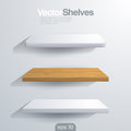 D vector shelves rectangle and rounded corner sh shape Stock Images