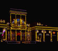3D Video Mapping on Wilanow Palace Royalty Free Stock Photo