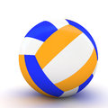 D volleyball isolated renderting volley ball Royalty Free Stock Photos