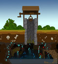 3d voxel rustic well