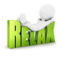 D white people relax background image Stock Image
