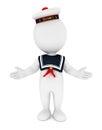 3d white people seaman Royalty Free Stock Photo