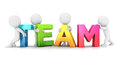 D white people team background image Royalty Free Stock Photography
