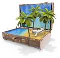 3D white people. Travel Destinations. Caribbean islands Royalty Free Stock Photo