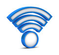 D wifi icon on a white background Royalty Free Stock Photography