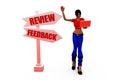 3d woman review concept
