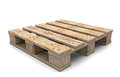 D wooden pallet on white background illustration Royalty Free Stock Images
