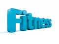 D word fitness icon on a white background illustration Royalty Free Stock Photo