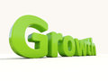 D word growth icon on a white background illustration Royalty Free Stock Images