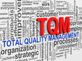 D word tags wordcloud of tqm illustration total quality management Royalty Free Stock Images