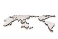 D world map illustration Royalty Free Stock Photo