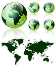 3d world map over the Earth Globe. Royalty Free Stock Photo
