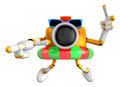 D yellow camera character dip tube ride create d camera robot series Royalty Free Stock Photo