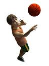 D young male basketball player in american cartoon style Stock Photography