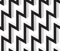 D zig zag abstract stars geometric vector seamless pattern black and white can be used as background Royalty Free Stock Photo