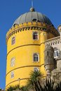 Da pena palace yellow tower sintra portugal a in palacio the is a unesco world heritage site Stock Images