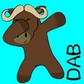 Dab dabbing pose oxen kid cartoon