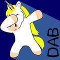 Dab dabbing pose unicorn kid cartoon