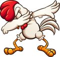 Dabbing cartoon chicken or rooster