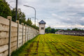 Dachau concentration camp watchtower in the memorial Royalty Free Stock Images
