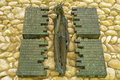 Dachau sad Jesus Christ detail memorial Royalty Free Stock Photo